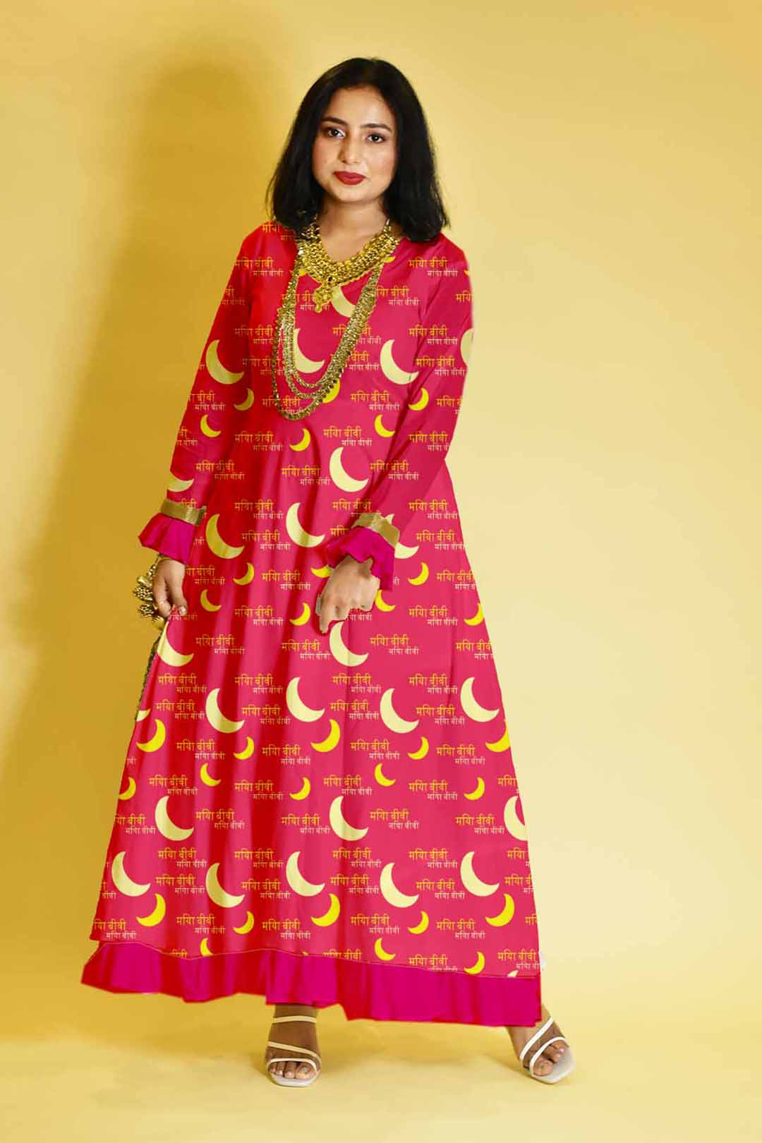 Rayon Anarkali Dress – Over the moon