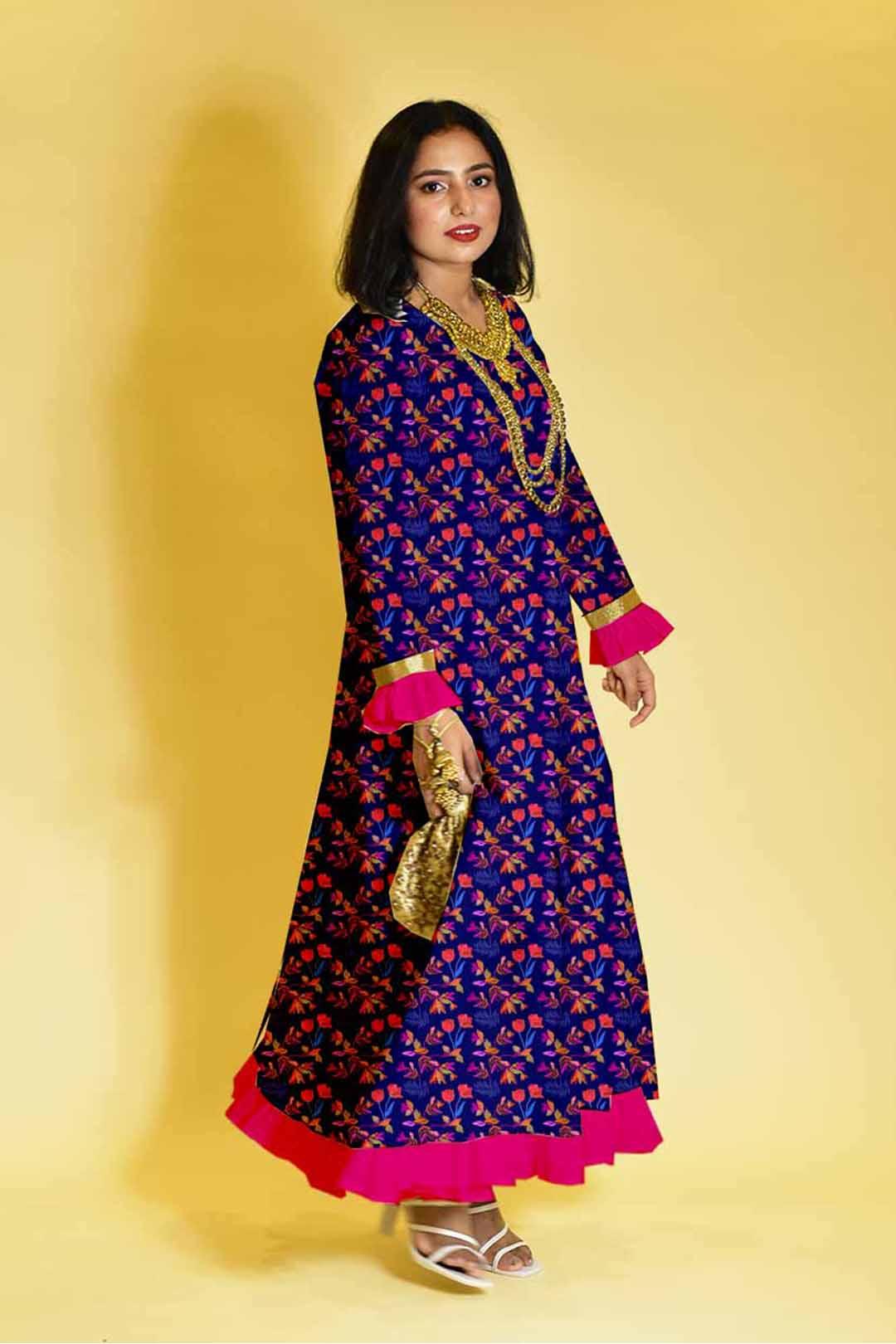 Rayon Anarkali Dress – Happy bloom