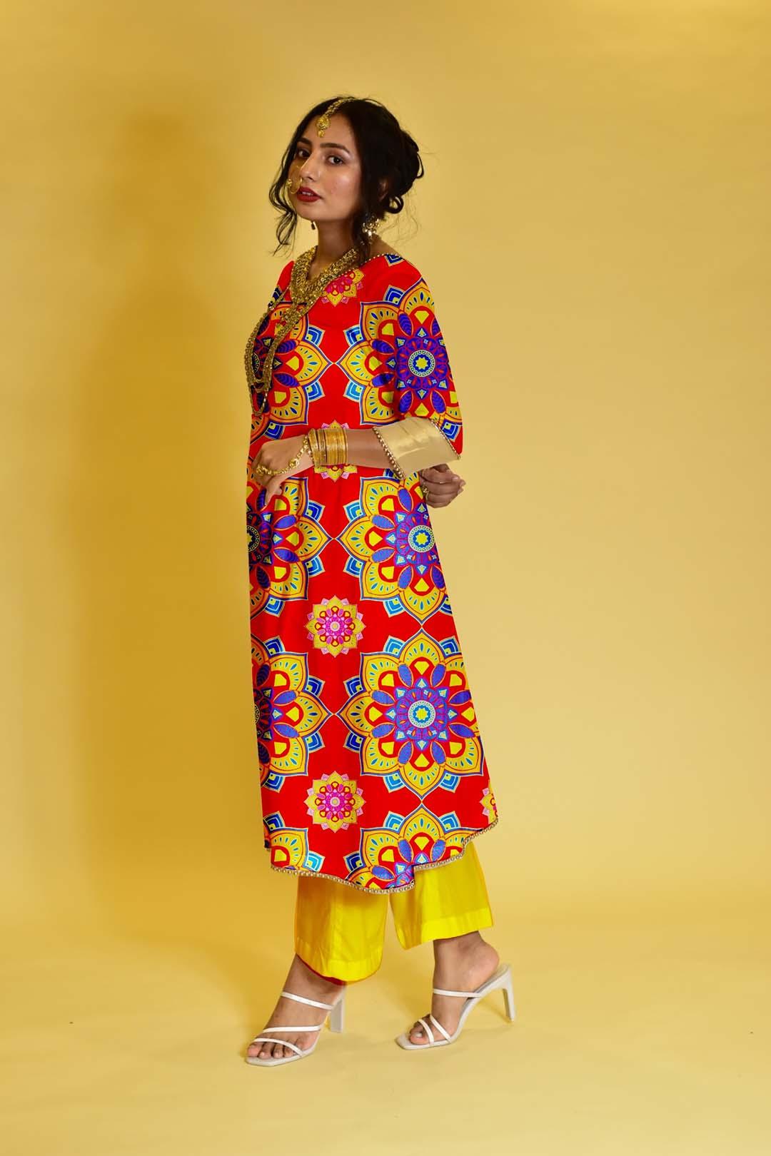 Georgette Pant Suit – Color Blast