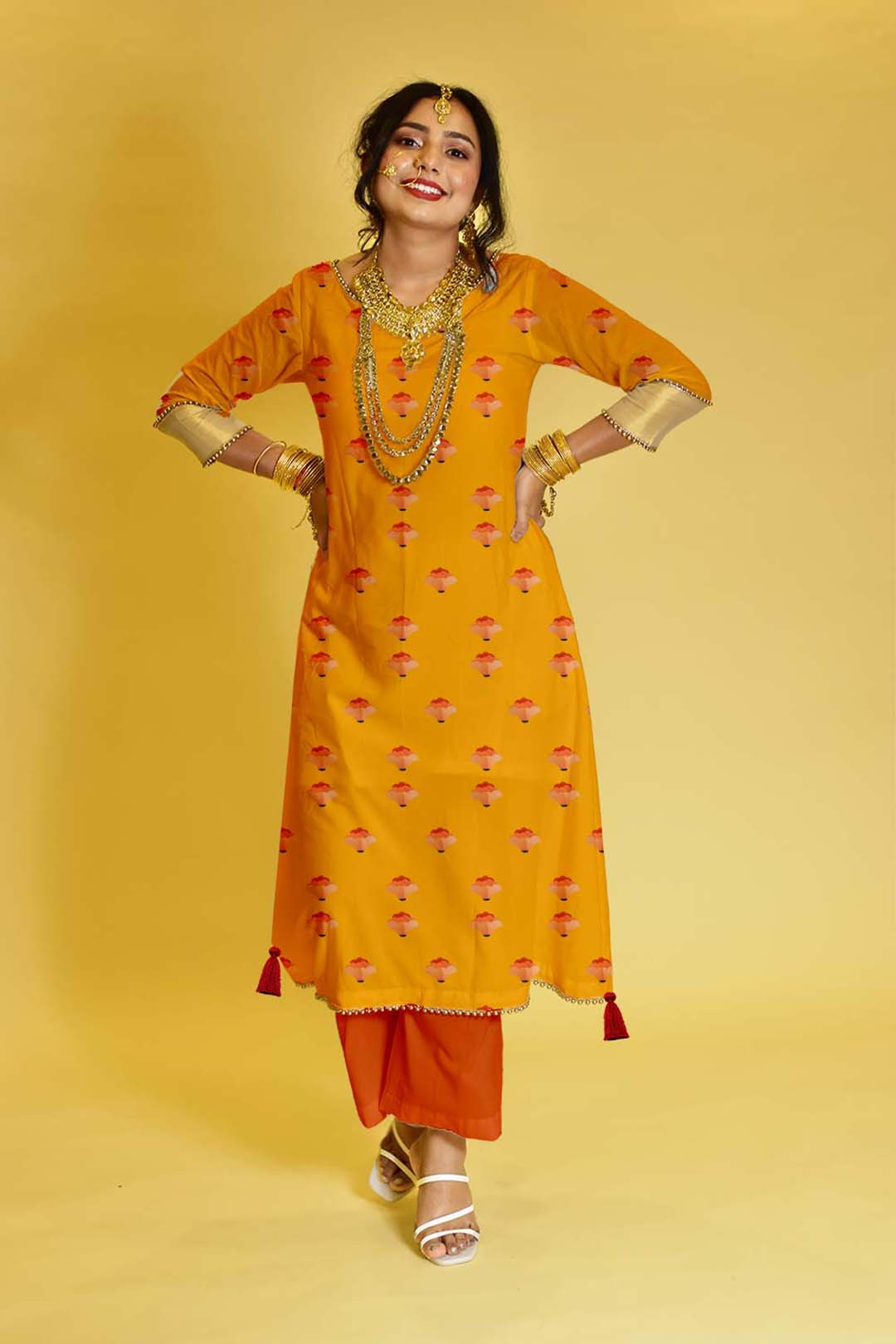 Rayon Palazzo Suit – Safron Lily