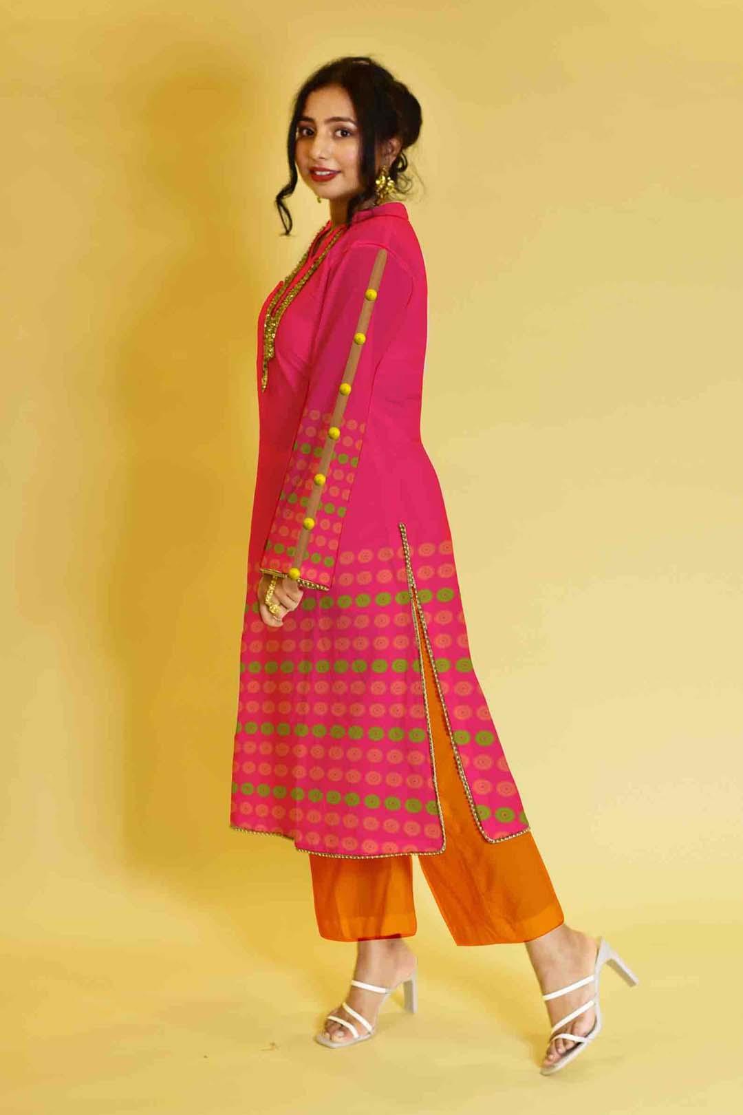 Rayon Pant Suit – Pop pink