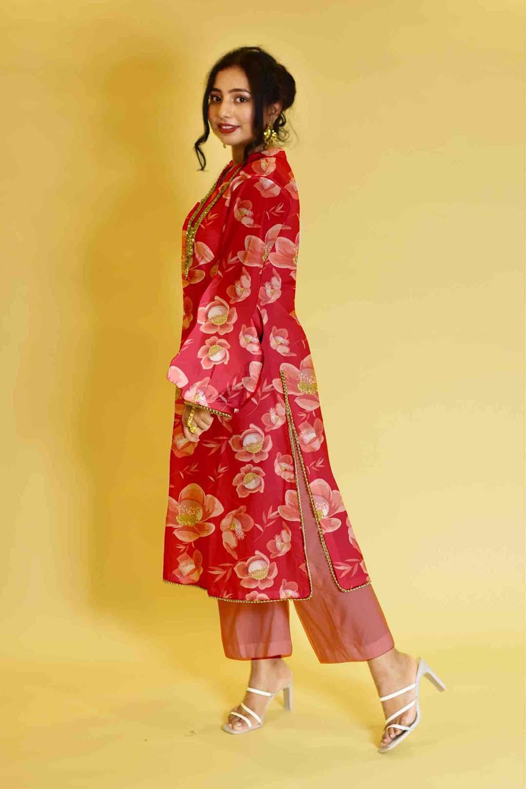 Georgette Pant Suit – Flowerina