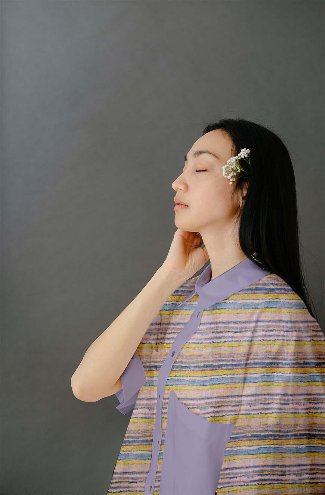 Cotton Shirt Top – Stripes