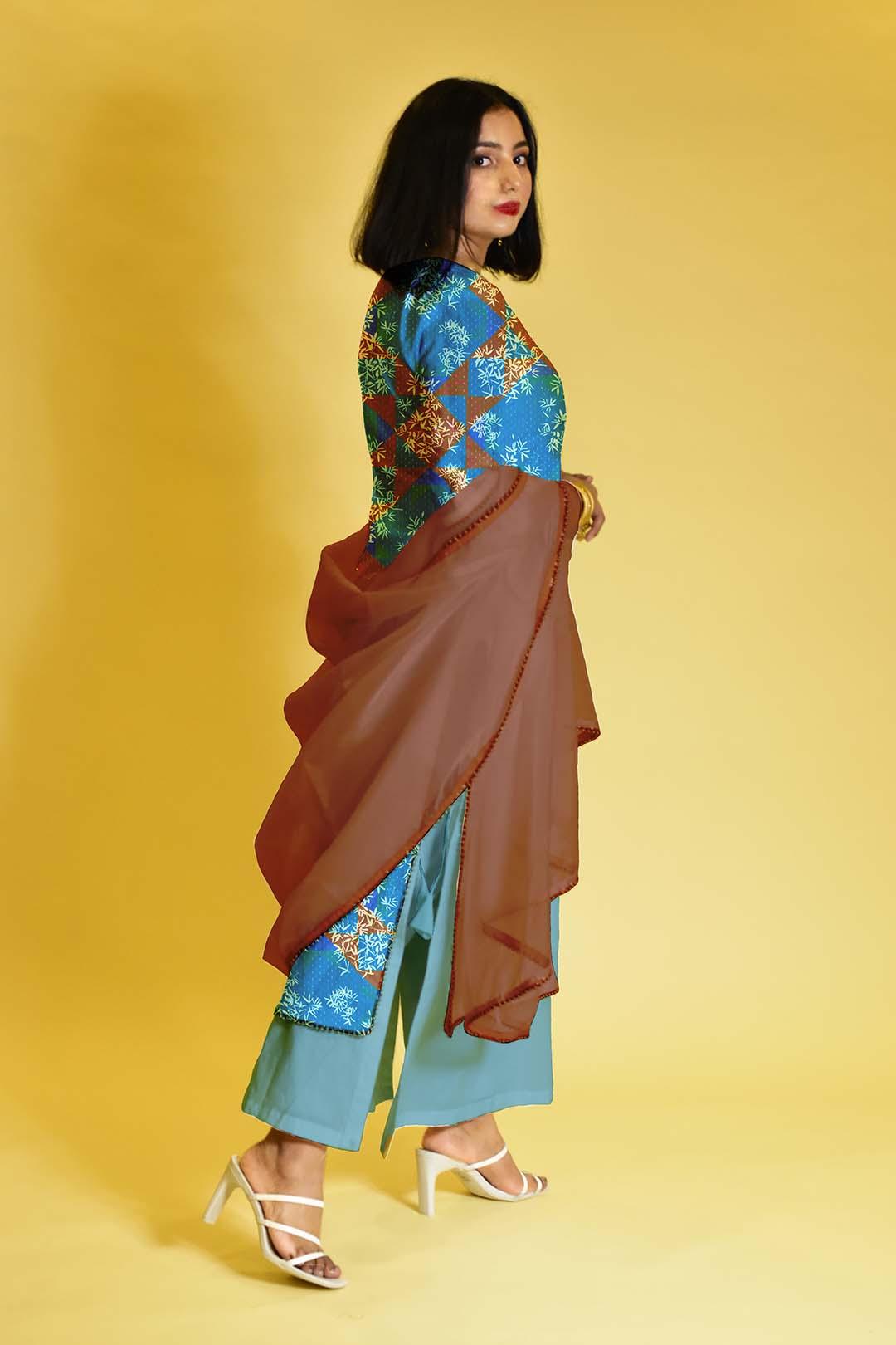 Cotton Palazzo Suit – Poised Glow