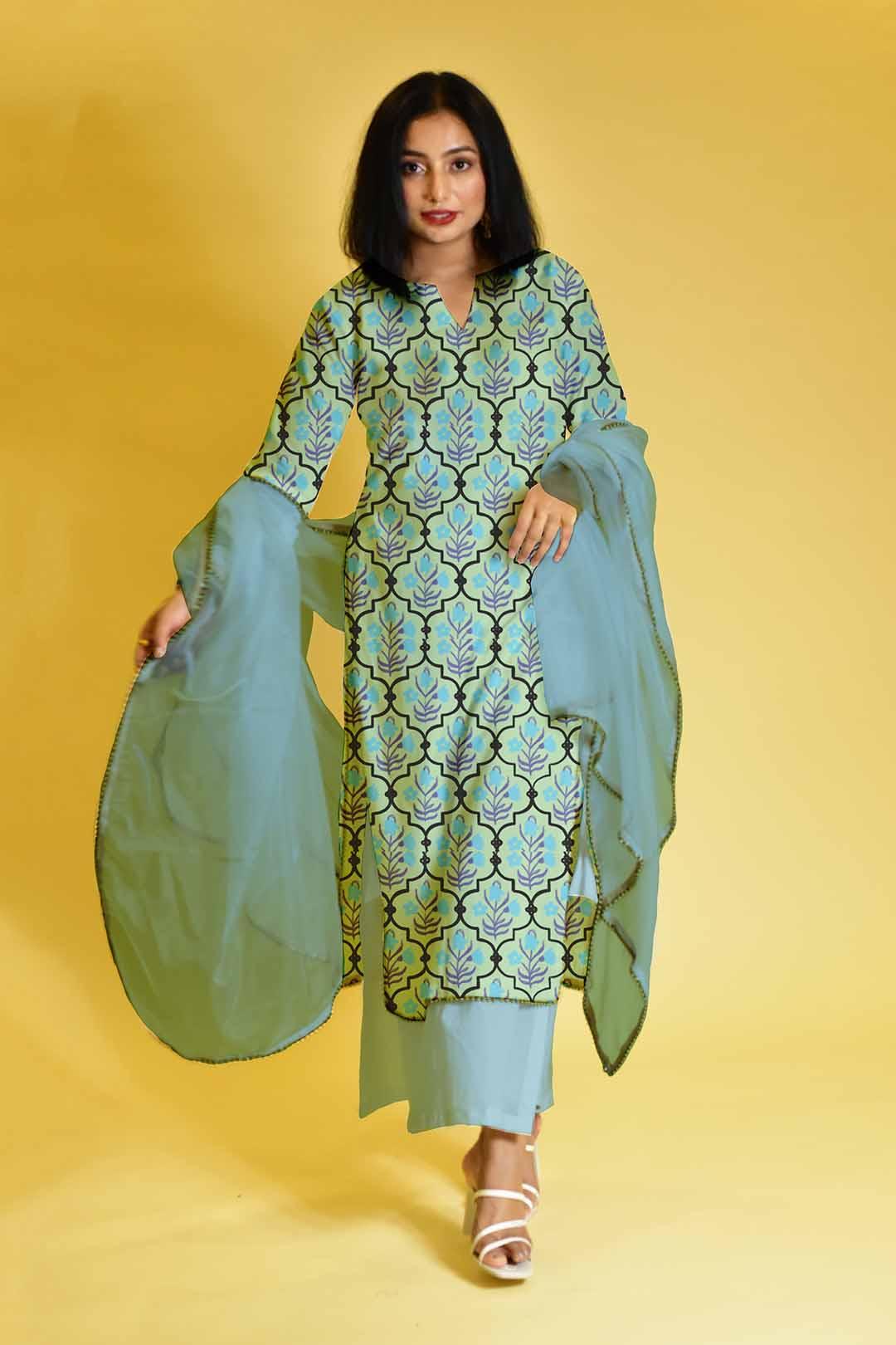 Cotton Palazzo Suit – Charming Subtlety