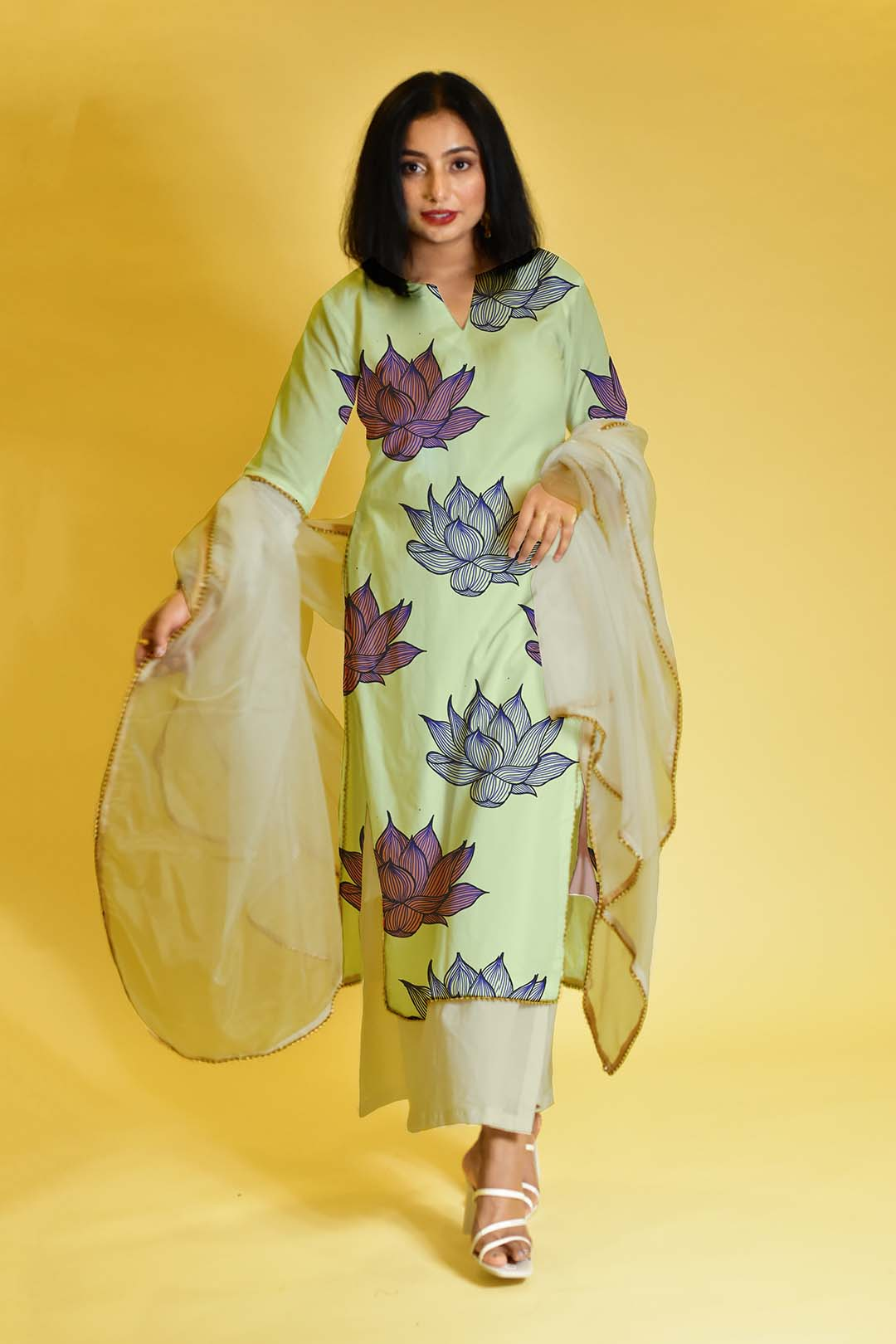 Cotton Palazzo Suit – Ethereal Hue